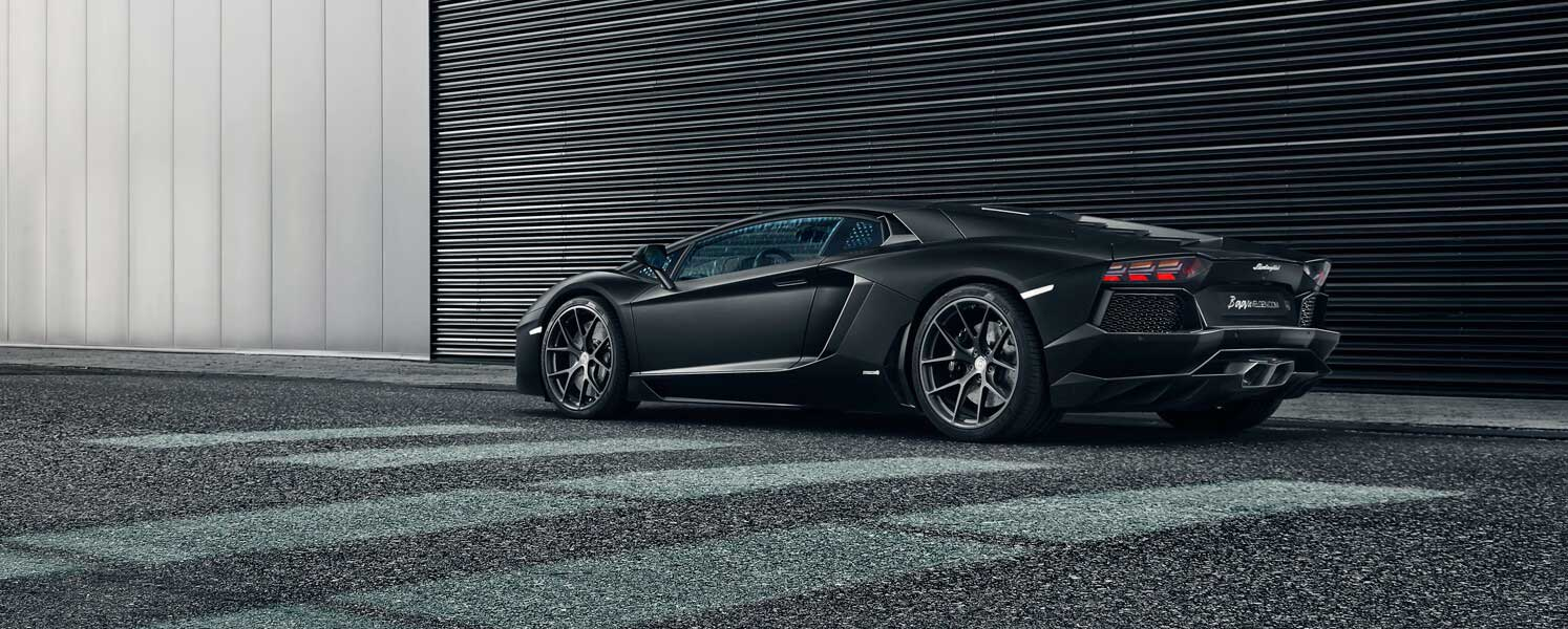 Lamborghini Aventador with HRE wheels and IPE Exhaust